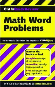CliffsQuickReview Math Word Problems (Cliffs Quick Review)
