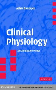 Clinical physiology : an examination primer