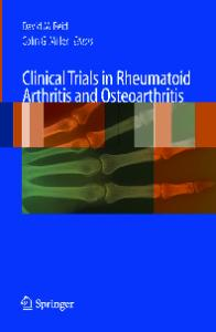 Clinical Trials in Rheumatoid Arthritis and Osteoarthritis (Clinical Trials)