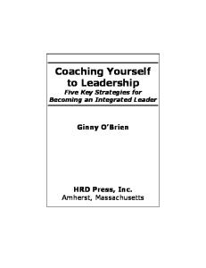 Coaching Yourself to Leadership