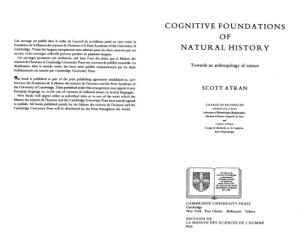 Cognitive foundations of natural history: Towards an anthropology of science