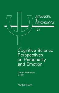 Cognitive Science Perspectives on Personality and Emotion,