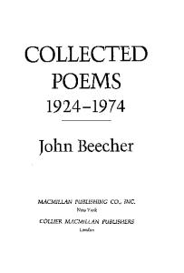 Collected Poems, 1924-1974