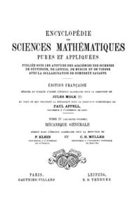 Collectif  Encyclopedie des sciences mathematiques