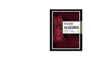 College Algebra Pdf Free Download