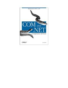 COM and .NET Component Services