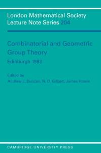 Combinatorial and geometric group theory: Edinburgh, 1993