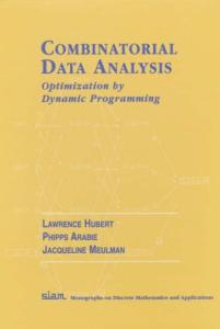 Combinatorial Data Analysis: Optimization by Dynamic Programming