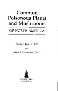 Common Poisonous Plants and Mushrooms of North America