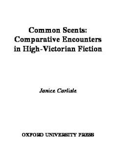Common Scents: Comparative Encounters in High-Victorian Fiction