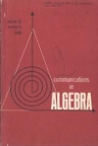 Communications in Algebra, volume 16, number 5, 1988