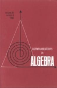 Communications in Algebra, volume 26, number 4