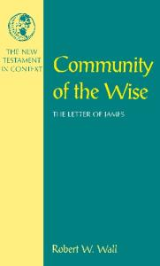 Community of the Wise: The Letter of James (The New Testament in Context)