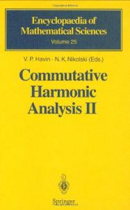 Commutative harmonic analysis 02