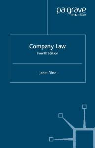 Company Law (Palgrave Law Masters)