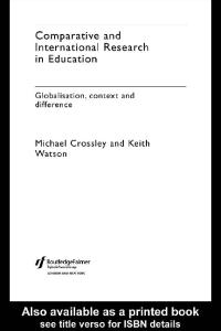 Comparative and International Research In Education
