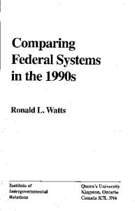 Comparing Federal Systems in the 1990s (Institute of Intergovernmental Relations)