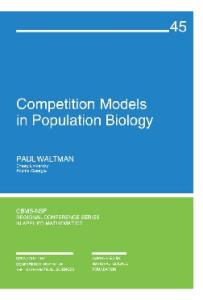 Competition Models in Population Biology