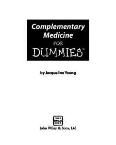 Complementary Medicine For Dummies (For Dummies (Lifestyles Paperback))