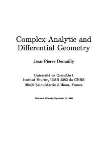 Complex analytic and differential geometry