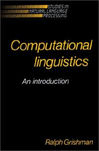 Computational linguistics: an introduction