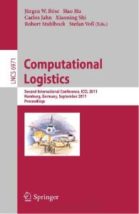 Computational Logistics (Lecture Notes in Computer Science)