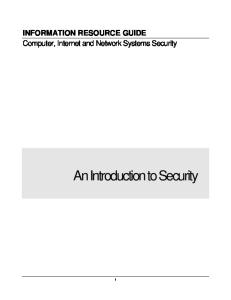 Computer, Network & Internet Security