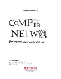 Computer Networks: Performance and Quality of Service