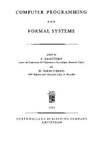 Computer Programming & Formal Systems