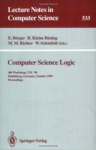 Computer Science Logic, 4 conf., CSL '90