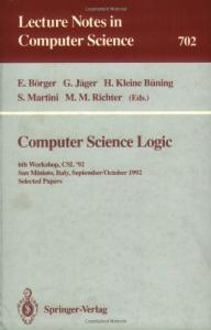 Computer Science Logic, 6 conf., CSL '92