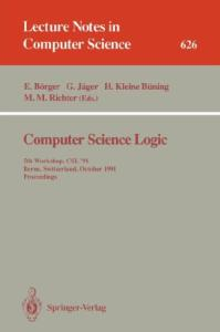 Computer Science Logic, 7 conf., CSL '93