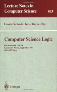 Computer Science Logic, 8 conf., CSL '94