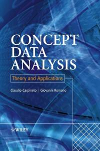 Concept data analysis. Theory and application