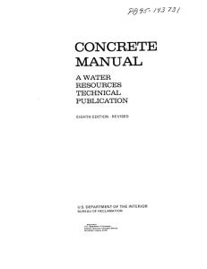 Concrete Manual, Eighth Edition, Revised