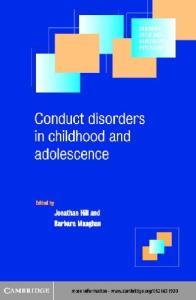 Conduct Disordersin Childhood and Adolescence