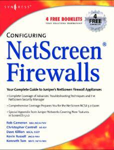 Configuring NetScreen firewalls