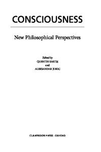 Consciousness: New Philosophical Perspectives