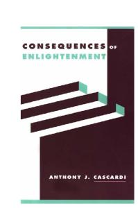 Consequences of Enlightenment (Literature, Culture, Theory, 30)