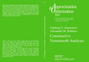 Constructive Nonsmooth Analysis (Approximation & Optimization, Vol. 7)