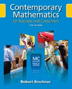 Contemporary Mathematics for Business and Consumers, 5th Edition (with Student Resource CD with MathCue.Business)