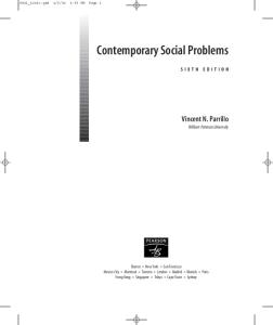 Contemporary Social Problems