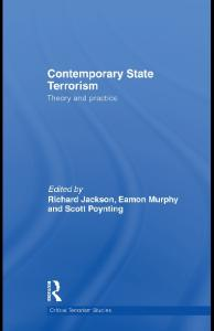 Contemporary State Terrorism: Theory and Practice (Routledge Critical Terrorism Studies)
