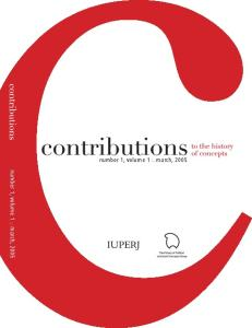 Contributions to the History of Concepts vol. 1