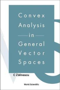 Convex analysis in general vector spaces