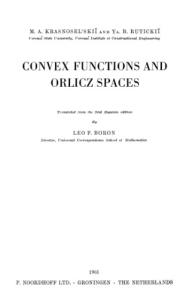 Convex Functions and Orlicz Spaces