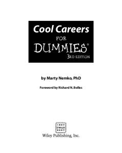 Cool Careers For Dummies (For Dummies (Business & Personal Finance))