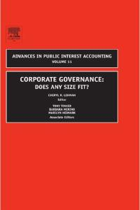 Corporate Governance: Does Any Size Fit? (Advances in Public Interest Accounting)