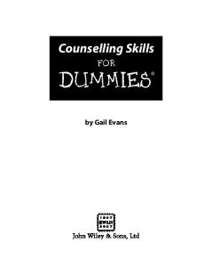 Counselling Skills For Dummies®