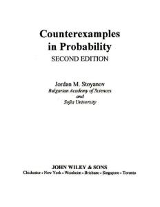 Counterexamples in Probability, 2nd Edition